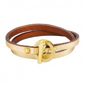 GOLDEN DAPHNIS LEATHER BRACELET