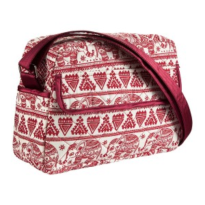 RED SASHA COTTON CROSSBODY BAG