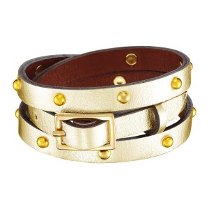 GOLDEN CALLISTO LEATHER BRACELET