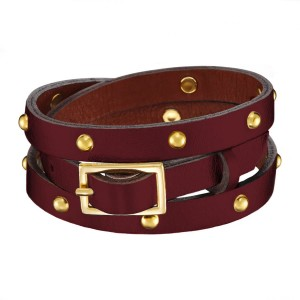 BURGUNDY CALLISTO LEATHER BRACELET