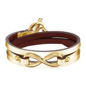 GOLDEN INFINITY LEATHER BRACELET
