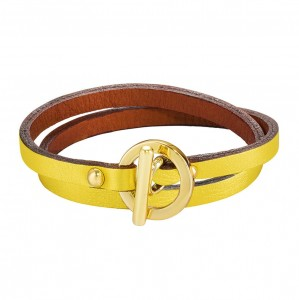 YELLOW DAPHNIS LEATHER BRACELET