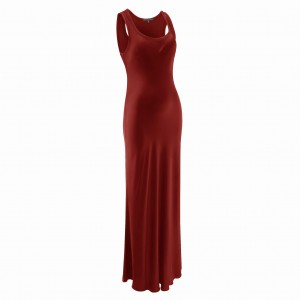 WINE RED GABRIELLE MAXI DRESS