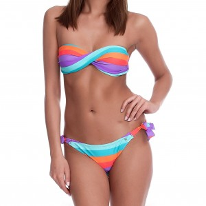 RAINBOW PRINT TWO-PIECE HALIA BANDEAU