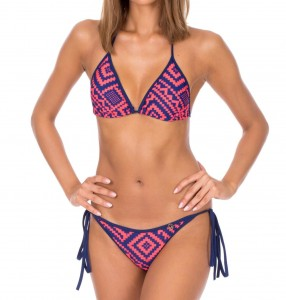 BLUE&PINK ETHNIC PRINTED TWO- PIECE LENA BIKINI