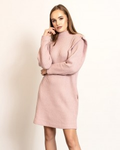 POWDER PINK KNITWEAR ISABELLA DRESS