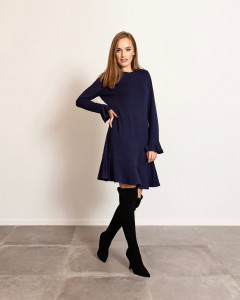 NAVY BLUE CORNELIA DRESS
