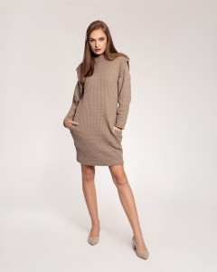 DARK BEIGE ISABELLA KNITWEAR DRESS