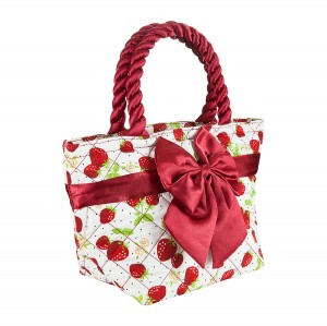 STRAWBERRIES PRINT ROMA COTTON COSMETIC BAG