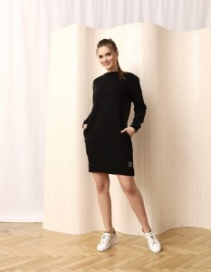 LISBONA SWEATSHIRT DRESS IN BLACK