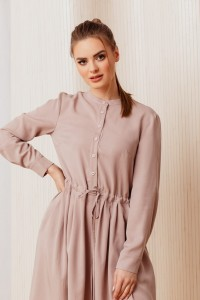 Flared Florence dress with long sleeves in lilac color
