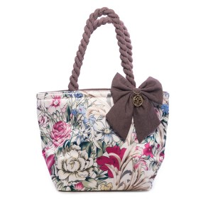 FLOWERS ON A LIGHT BACKGROUND ANA SATIN BAG