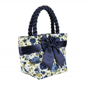 BLUE ROSES PRINT ROMA COTTON COSMETIC BAG
