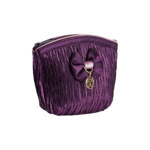 PURPLE SATIN LOLA KEY HOLDER