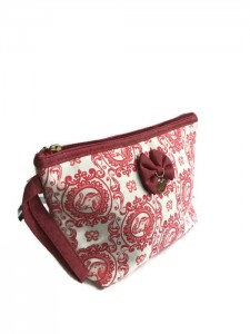 RED ELEPHANT PRINT ELLE MAKE UP BAG