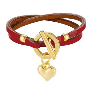 RED BELLATRIX LEATHER BRACELET