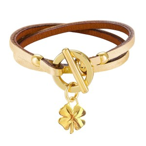 GOLDEN GALATEA LEATHER BRACELET