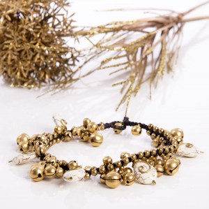 ANKLE NOELIA BRACELET WITH WHITE STONES