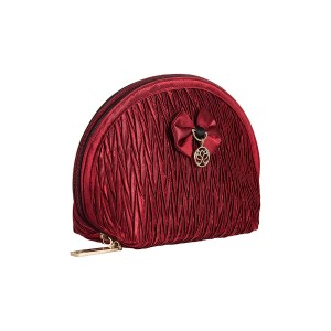 RED SATIN INEZ MAKE UP BAG