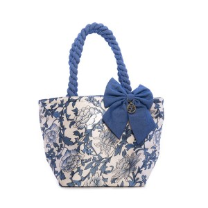 BLUE FLOWERS ON A LIGHT BACKGROUND ANA SATIN BAG