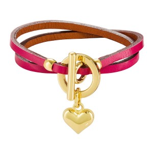 PINK BELLATRIX LEATHER BRACELET