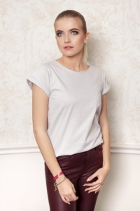 GREY COTTON BASIC T-SHIRT
