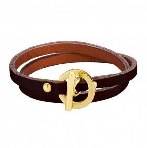 BURGUNDY DAPHNIS LEATHER BRACELET