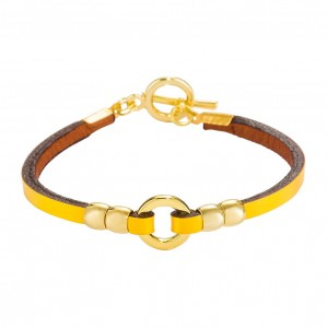 YELLOW REA LEATHER BRACELET