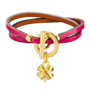 PINK GALATEA LEATHER BRACELET