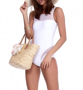 WHITE ONE-PIECE KAILI SWIMSUIT