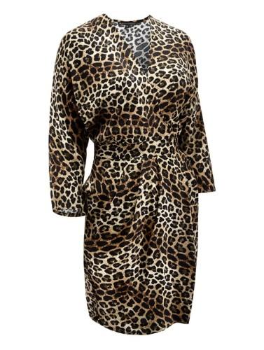 1a4580b423 Sukienka bombka KARIN w w zwierzęcy wzór⋆Oriente Glamour